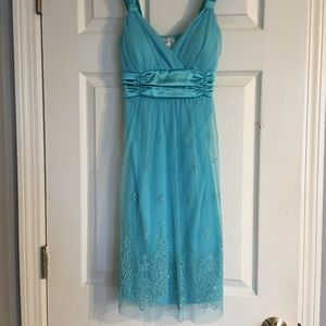 Dresses & Skirts - Baby Blue Knee Length Dress