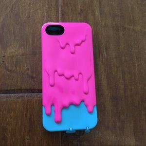 Accessories - Pink/Blue Melting Phone Case