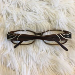 9c2316417d Elizabeth Arden Accessories - Elizabeth Arden EA1037 Brown Rectangle Eye  glasses