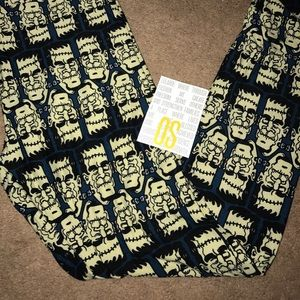 Lularoe Halloween Frankenstein Leggings OS