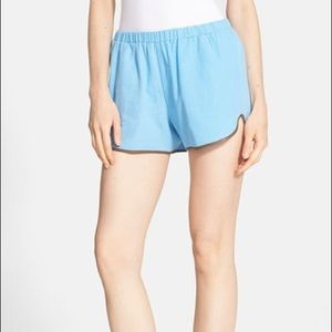 Clover Canyon Linen and Leather Shorts.