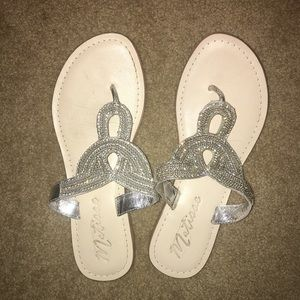 Matisse Shoes - Matisse sparkly sandals size 9