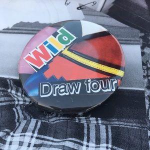[louboutin wild card] homemade pinback button