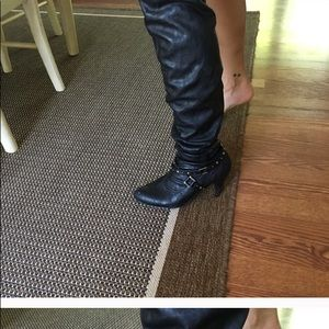 Chinese laundry brand over the knee leather boots