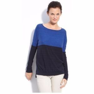Vince Color block long sleeve sweater
