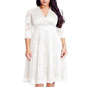 Dresses & Skirts - 💍Plus Size Angel Wedding Lace Dress,12W-30W