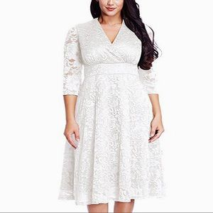 Dresses & Skirts - BACK💍Plus Size Angel Winter Wedding Dress,S-XXXL