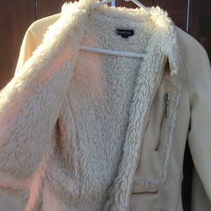 bebe Jackets & Coats - Bebe beige winter jacket, small with hood