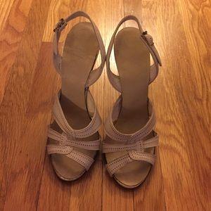 Shoes - Ivory/beige heels
