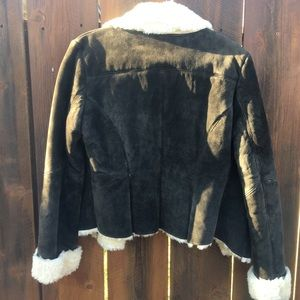 Express Jackets & Coats - brown leather coat size 7/8