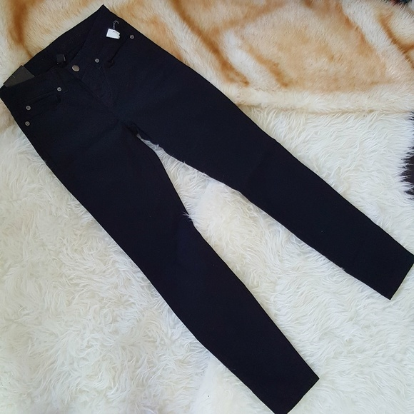 Gap premium super skinny black jeans
