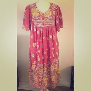 Floral handmade midi sun dress