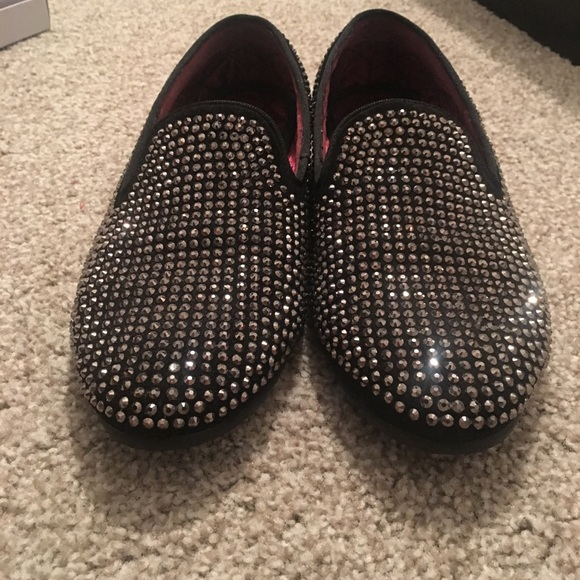 6ad687ce123 Steve Madden Caviarr silver rhinestone shoes