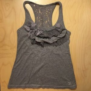 Abercrombie kids tank top with ruffle