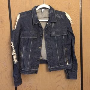 Jackets & Blazers - Crop denim jacket
