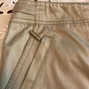 Mac &Jac Khaki Pencil Skirt Many Zippers! Size 6