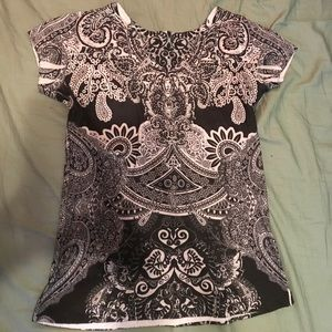 Black and white bling embellished shirt.