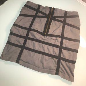Dresses & Skirts - gray and black mini skirt