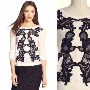 Diane von Furstenberg Shara lace sweater DVF