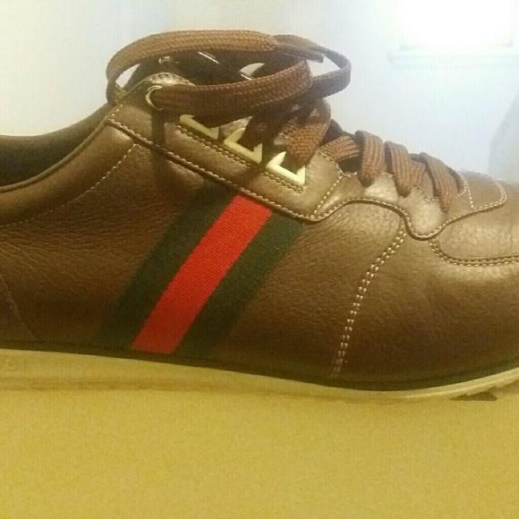 Gucci Shoes - Brown Gucci casual gym shoe