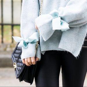 Topshop Tie Cuff Sweater NWT