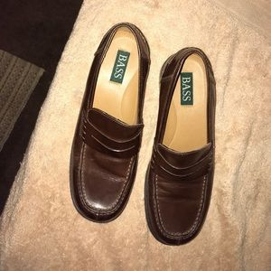 Bass Weejun Vtg  Preppy Dark Rd Brown Penny Loafer