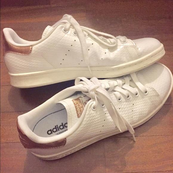 Adidas Stan Smith, el poshmark Oro Rosa Talla 9