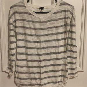 Express white and gray striped sweater, size XS