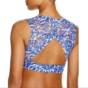 🆕FREE PEOPLE Womens Lace Floral Print Bralette
