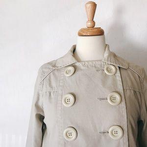 Jackets & Blazers - Khaki Peacoat