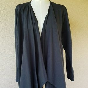 Sweaters - Bit & Bridle Charcoal Cardigan 2X New with tag