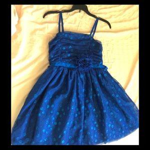 SPARKLY ROYAL BLUE KID's DRESS