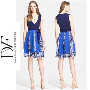Diane von Furstenberg Sapphire Floral Wrap Dress