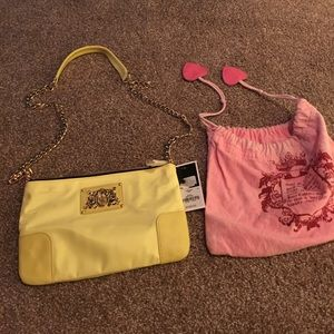 Brand new Juicy yellow purse with dust bag
