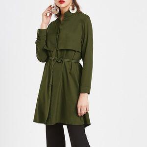 🏆🆕HPFall Chiffon Layer coat with self tie belt