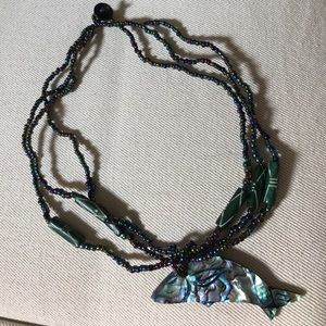 Jewelry - ABALONE DOLPHIN NECKLACE