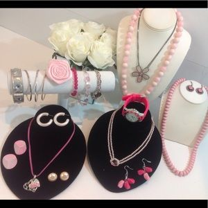 Jewelry - Pink Jewelry Lot Great Find