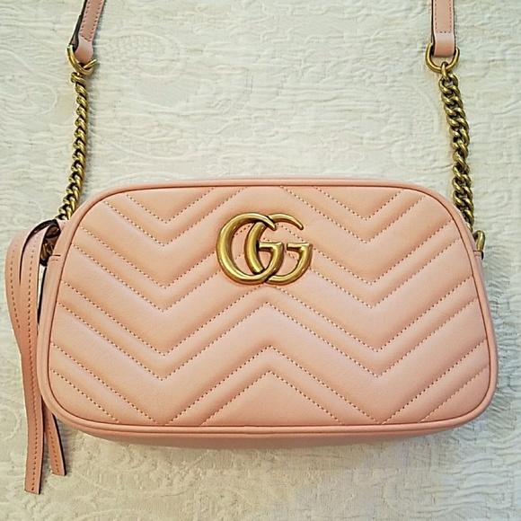 30cd77b0e97f Gucci Bags | Gg Marmont Small Chain Crossbody | Poshmark