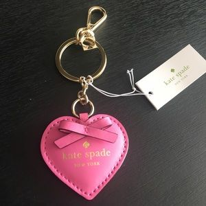 Kate Spade Puffy Pink Heart Key Chain