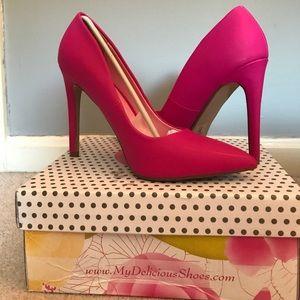 Shoes - Last call: Bubblegum high heels