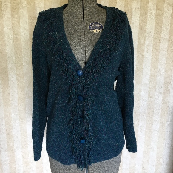 Christopher & Banks Sweaters - Teal cardigan from C.J. Banks.