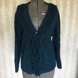 Teal cardigan from C.J. Banks.
