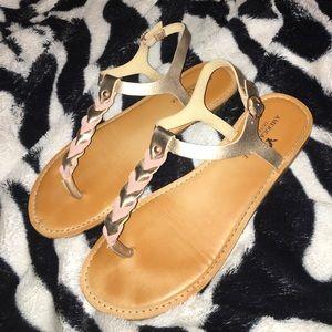 AMERICAN EAGLE - Rose Gold Ankle Strap Sandals