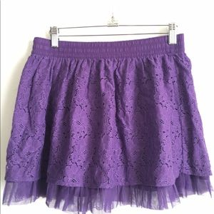 Other - Girls purple lace and tulle Skirt Sz 14 16