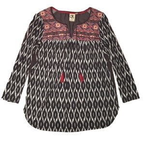Anthropologie ONE SEPTEMBER embroidered peasant