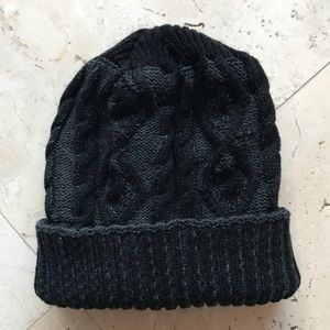 Other - Black & Dark Gray Knit Beanie
