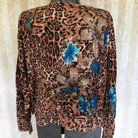 croft & barrow Sweaters - Animal print sweater.