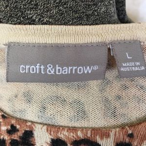 croft & barrow Sweaters - Animal print sweater.