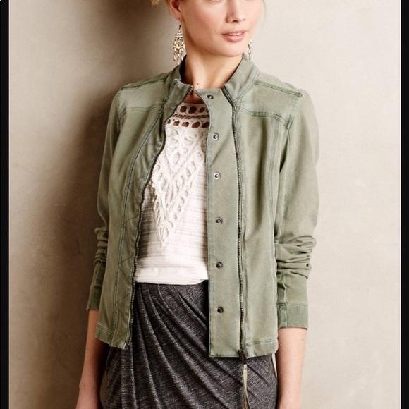 108047850c6b3c Anthropologie Jackets   Blazers - Anthropologie Marrakech Jordan Green Moto  Jacket