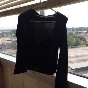 Black long sleeve dressy top